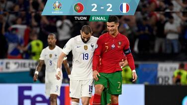 ¡Partidazo! Portugal y Francia igualan con Benzema y CR7 como figuras