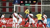 ¡Sin piedad! Colombia golea a un Perú que sigue sin ganar