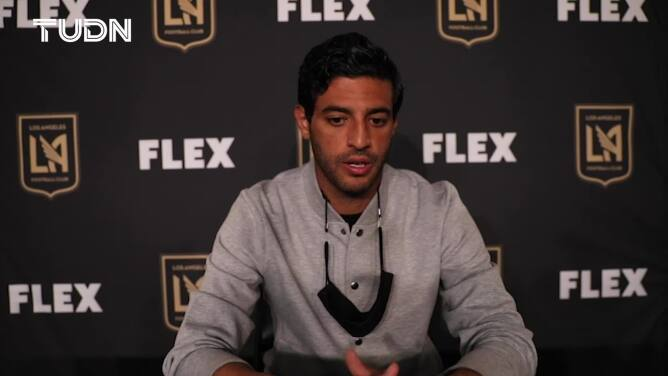 Carlos Vela está feliz por su gol y le desea suerte al Tri