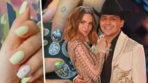 Belinda y Christian Nodal se decoran las uñas juntos y presumen el resultado