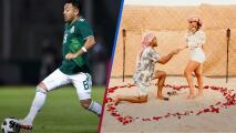 Marco Fabián pide matrimonio a su novia la cantante Kristel Fabre en el desierto de Dubái