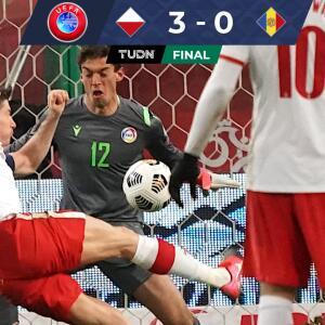 Con doblete de Lewandoswki, Polonia venció a Andorra