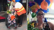 """""""Tenemos mucho que agradecer"""": madre vence al coronavirus y sale del hospital después de cinco meses"""