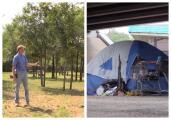Hombre que vivió sin hogar busca ayudar a los indigentes en Austin ofreciéndoles su terreno