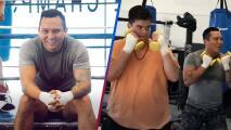 Edwin Luna imita al 'Canelo' y se pone los guantes para practicar box